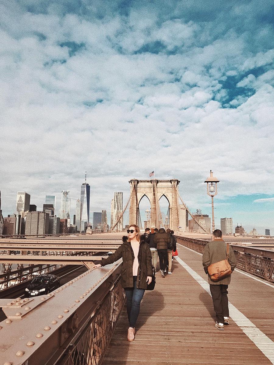 usa nowy jork most brookliński